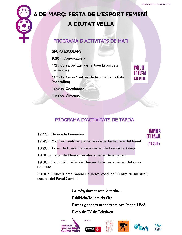 LA FESTA DE L'ESPORT FEMENÍ JA ÉS AQUÍ!